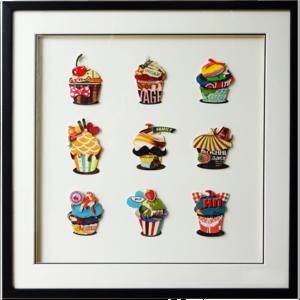 Obraz przestrzenny Cup Cakes 104-9021