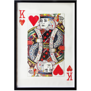 Obraz przestrzenny King Hearts 104-9062
